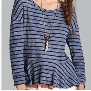 We the Free Auntie Em striped thermal top